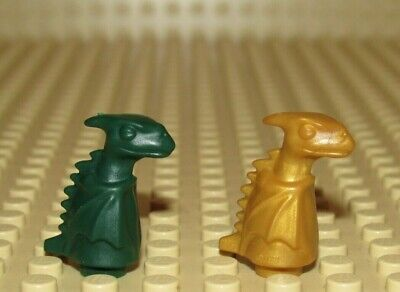 LEGO lot 2 Norbert Baby Dragon Gold and Dark Green Harry Potter Caste Ninjago