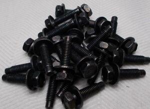 M6 6mm X 1.00 Fine X 18mm Thread Hex Washer Head Bolt Lot Of 25 Bolts