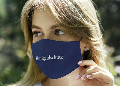 """NEU! Demo-Maske / Mundschutz """"Bußgeldschutz"""", Universalgröße, Farbe: Dunkelblau"""
