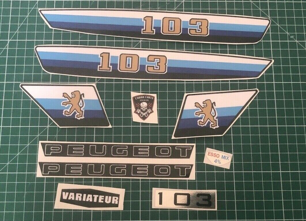 Autocollant Peugeot 103 MVL