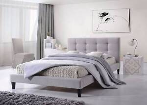 【Brand New】Fabric Bed Frame With Buttons Springvale Greater Dandenong Preview