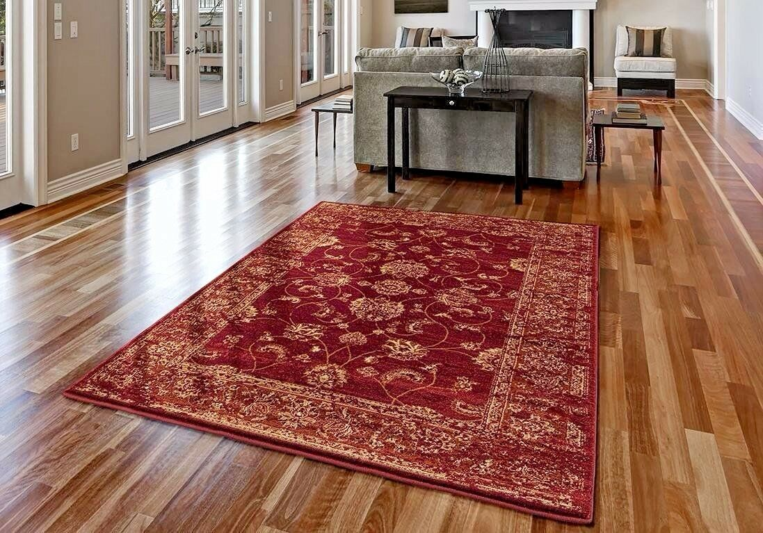 Rugs Area Carpet 8x10 Rug Oriental Persian Floor Large Red New