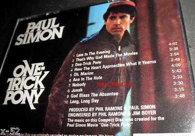 PAUL SIMON Cd ONE TRICK PONY Phil RAMONE Long Long Day PATTI AUSTIN Agora Live - $12.99