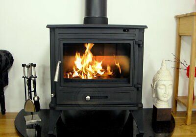 CASTMASTER BELVOIR WITH BACK BOILER, WOOD BURNING MULTIFUEL CAST IRON  STOVE