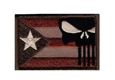 Puerto Rico Flag Punisher Tactical Morale Hook Patch (PR9) BY MILTACUSA