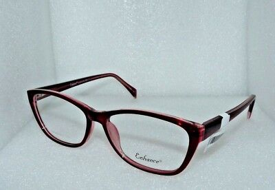 NEW NEW YORK EYE ENHANCE EN3976 BURGUNDY EYEGLASSES GLASSES FRAMES 56-17-145