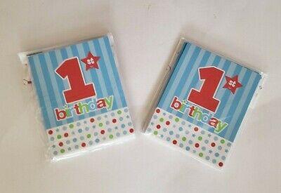 1st Birthday Party Invitations 16 w/Envelopes Unisex Baby/Toddler  Baby Birthday Party Invitations