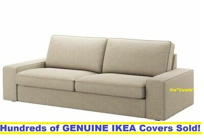 "IKEA KIVIK XL 3.5 Seat Sofa (98 3/8"") Cover Slipcover HILLARED BEIGE New! SEALED"