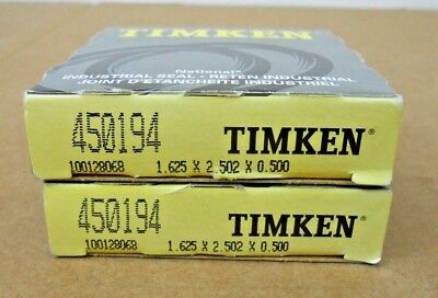 Lot Of 2 Nib Timken 450194 Nitrile Oil Seal 45 Design Single Lip W Spring
