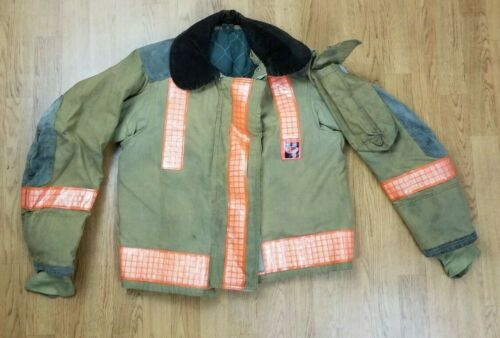 Vintage Globe Firefighter Bunker Turnout Jacket 40 Chest x 26 Length 1988
