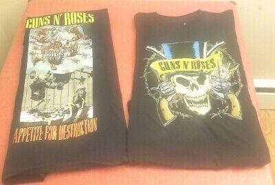 Guns N' Roses Classic Black Appetite for Destruction Large T-Shirt Package