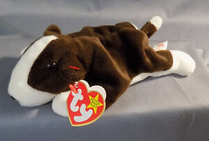 TY Beanie Baby Bruno the Dog 1997 Retired with tag errors/oddities