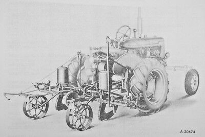 A-218 219 2 Row Rear Mccormick Ih Farmall Super A Runner Planter Owners Manual