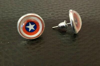 CAPTAIN AMERICA Ohringe Avengers Captain America Design Ohrstecker Earrings