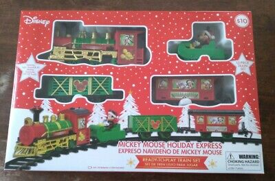 NEW Disney Mickey Mouse Holiday Express 12 Piece Christmas Train Set Ships Fast
