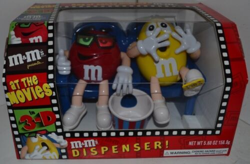 Vintage M&M Candy Dispenser At The Movies On Couch In box