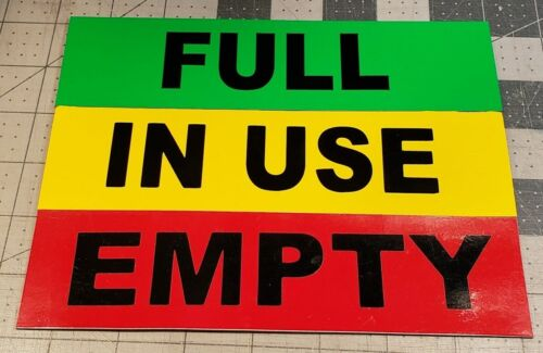 Full Empty In-Use Cylinder Magnets - Color Coded - Propane Acetylene Argon CO2