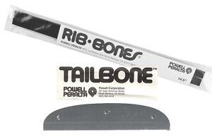 Powell Peralta Skateboard BLACK TAIL TAILBONE RIBS RAILS Tail Part 2pc SET NEW