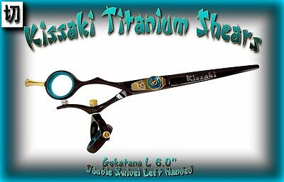 "Kissaki Left Hand Hair Scissors 6.0"" Gokatana L Black Blue D"