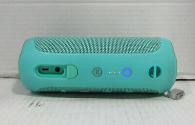 JBL Flip 4 Portable Waterproof 4.2 Bluetooth Speaker Teal Tested and Working