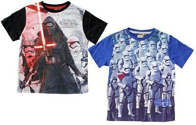 Boys T-Shirt Star Wars Tee Storm Trooper Kylo Ren Force Awakens Top 4 Years
