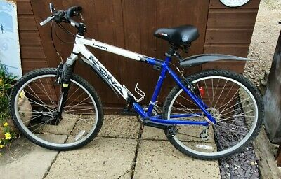 Kona Lanai Blue and White Mountain Bike with Front Suspension (2004)