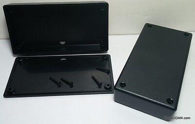 2 Pcs Usa Made Black Plastic Electronic Box Enclosure Case 5 X 2.5 X 1 In