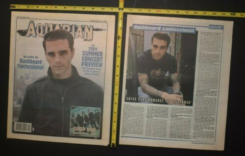 Dashboard Confessional 2004 2PC Color Cover/Interview Lot Chris Carraba