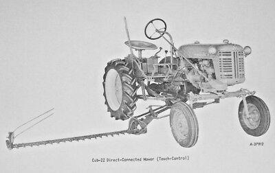 Late Ih International Farmall Cub-22 Sickle Bar Hay Mower Owners Manual