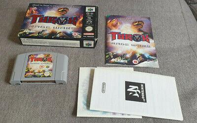 Nintendo 64 N64 Game Turok Rage Wars Boxed with Manual