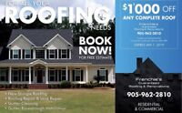 $1'000 off any roofing job/$500 off any renovation job