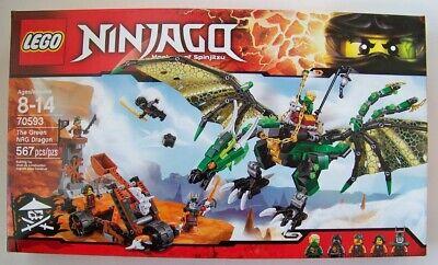 Lego Ninjago 70593 The Green NRG Dragon NEW Spinjitzu retired damaged box