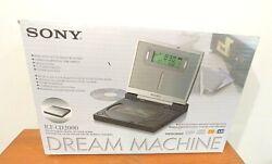 Sony ICF-CD2000 Dream Machine CD Clock FM/AM Radio w/ Backlit Display TESTED NIB
