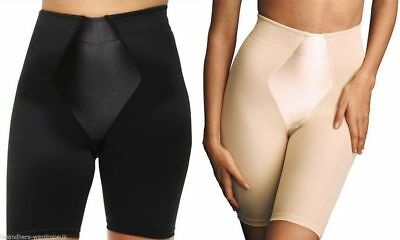 Control Shaper (Ladies Firm Control Shaper Long Leg Womens Satin Panel Shapewear Size M L XL XXL)
