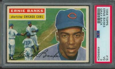 1956 Topps Gray Back #15 Ernie Banks VG PSA 3