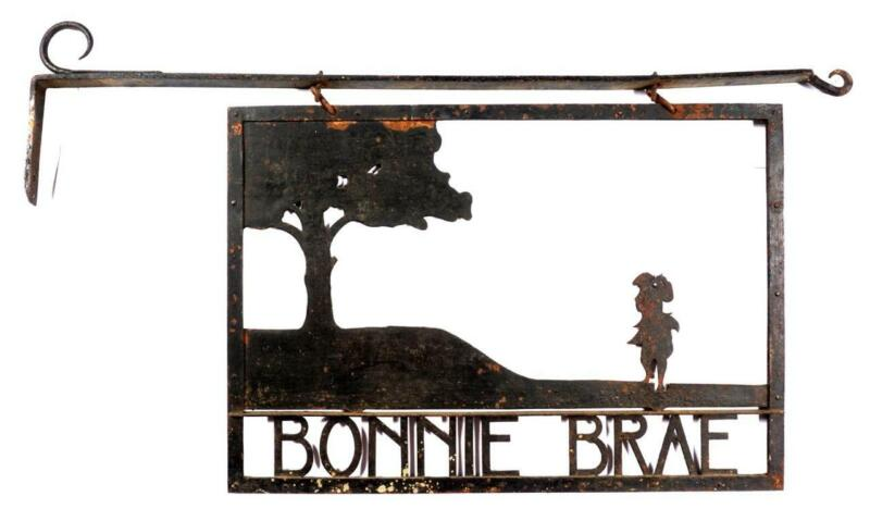 **NEW PRICE** Bonnie Brae Gold Club Iron Entrance Sign