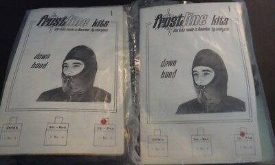 Set of 2 New Vintage Frostline Down Hood Kits Size Lg-XL Sewing