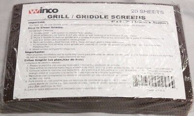 Package Of 20 Griddle Screen Mesh Grill Screens Cleaner Scraper Grit Clean Brick