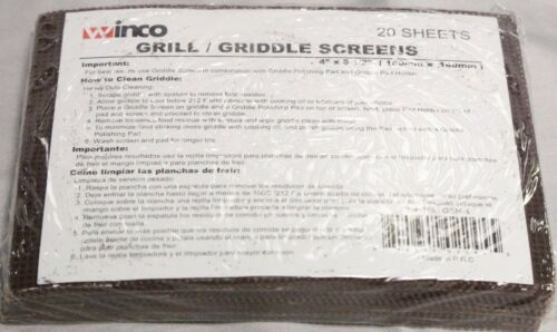 Package of 20 Griddle Screen Mesh Grill Screens Cleaner Scraper Grit Clean Brick