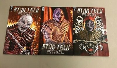 3X Star Trek Discovery 2  A Shasteen B Photo Variant 1 10 Ri Cbs All Access Idw