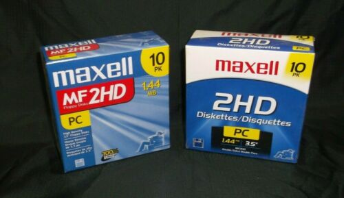 "Maxell 3-1/2"" floppy disk new in package/sealed - MF 2HD, 1.44MB"
