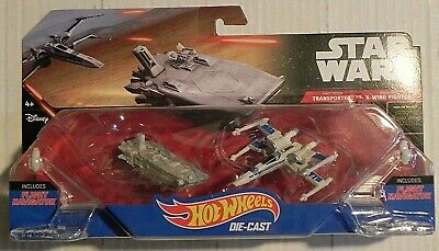 2016 Hot Wheels Star Wars X-Wing Fighter & First Order Transporter 2 Pack NEW