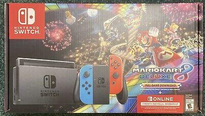 Nintendo Switch V2 w Neon Joy-Con Mario Kart 8 Deluxe Bundle FREE FAST SHIP