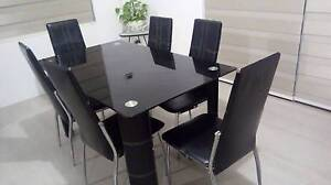 7 pc Glass top Dining Table & Chairs Maddington Gosnells Area Preview