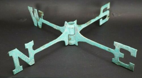 Antique Copper Weathervane Directional Indicator N-S-E-W