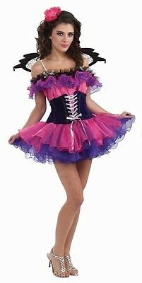 Fantasy Elf Halloween Costumes (Poppy Fairy Pink Pixie Fantasy Fairies Fancy Dress Halloween Sexy Adult)