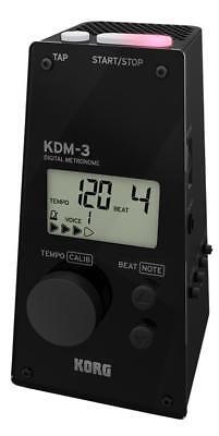 Korg KDM-3 Metronom Stimmgerät Vintage Lautsprecher Timer Referenzton Schwarz (Korg Stimmgerät Metronom)
