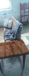 Vintage Fur Side table Kawartha Lakes Peterborough Area image 3