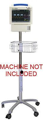 Rolling Stand For Welch-allyn Propaq Cs Monitor W Bottom Module Small Wheel