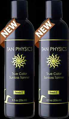 Lot of 2 Tan Physics True Color Sunless Self Tanner Tanning